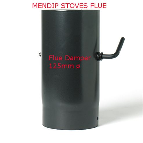 Picture of Matt Black Enamel Flue Pipe 125mm