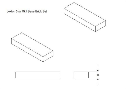 Picture of Loxton - Churchill 5kW mk1 Base Brick Set (Pair)