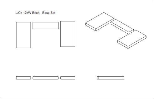 Picture of Loxton / Churchill 10kW Mk2 Brick - Part Set Base (Plain Grate)