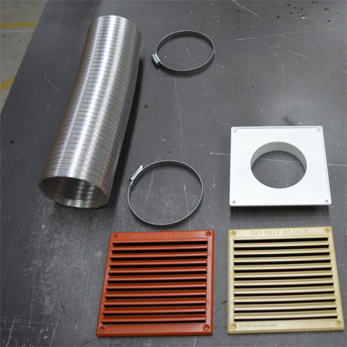 Picture of Closed Combustion Ducting Kit (CCDK) 150cm x 100mm ø (Coloured Grills)