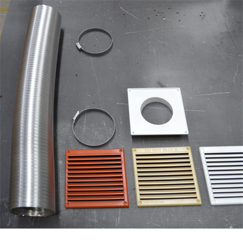 Picture of Closed Combustion Ducting Kit (CCDK) 300cm x 100mm ø (Coloured Grills)