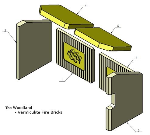 Picture of Complete Vermiculite Fire Brick Set - The Woodland