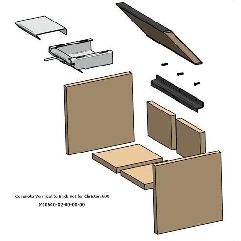 Picture of Complete Fire Brick Set - Christon 600