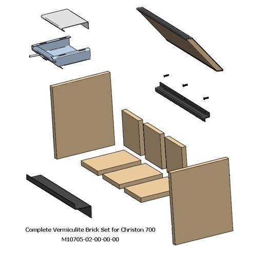 Picture of Complete Fire Brick Set for Christon 700