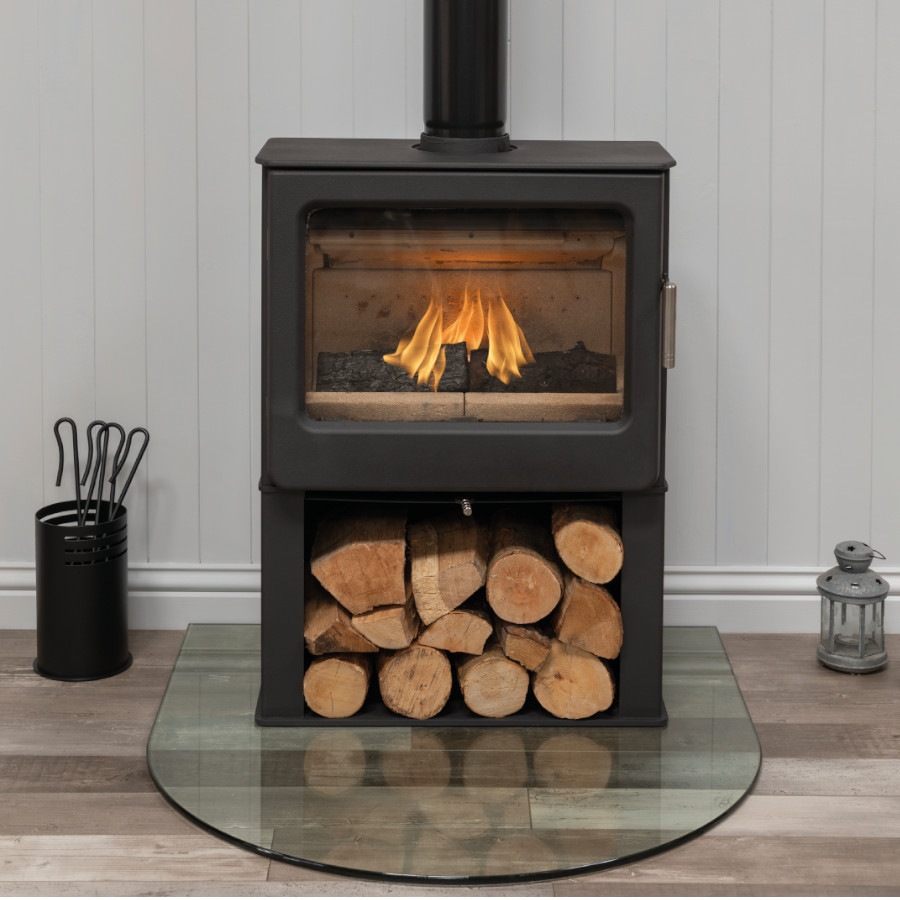 Ashcott Wide Logstore Woodburning Stoves