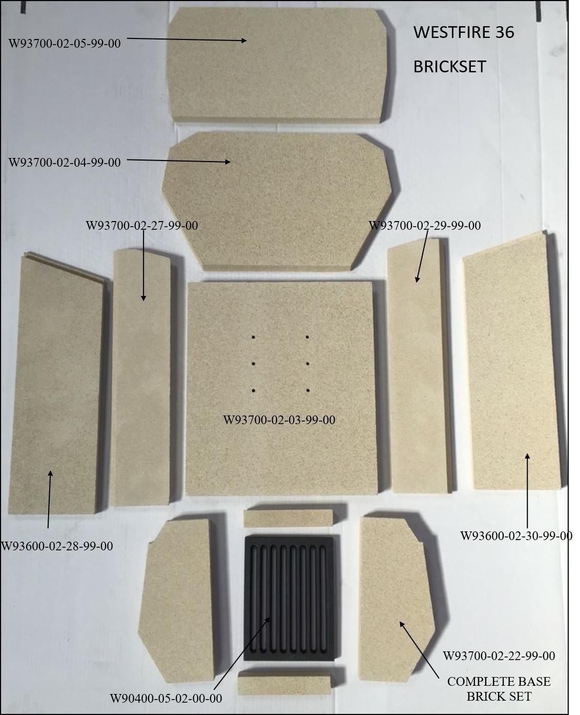 Westfire 36 Brick Set with Codes