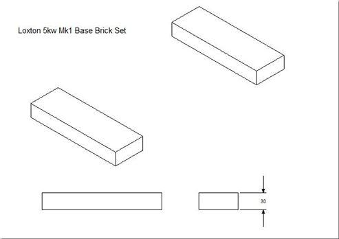 Picture of Loxton - Churchill 5kW mk1 Base Brick Set (Pair)