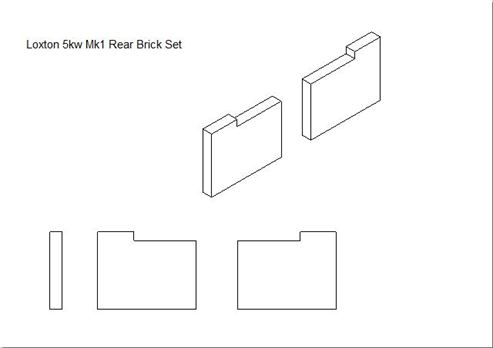 Picture of Loxton - Churchill 5kW mk1 Rear Brick Set (Pair)