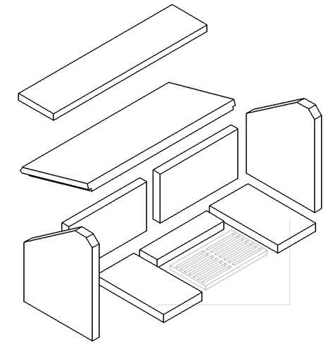 Picture of MP L/Ch 10kW Brick - Full Set (Plain Grate)