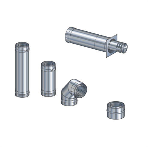 Picture for category Gas Flue Kit 1 - Horizontal Terminal