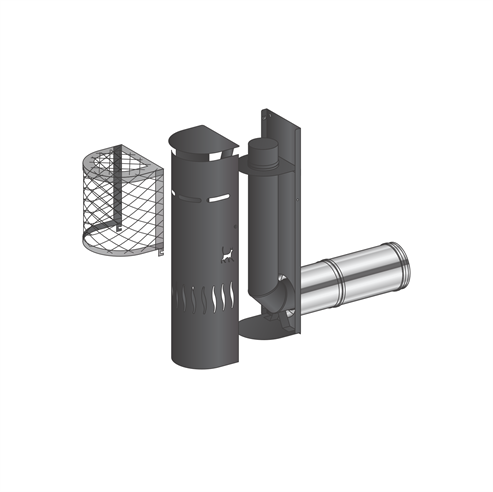 Picture for category Gas Flue Kit 2 - Snorkel Terminal