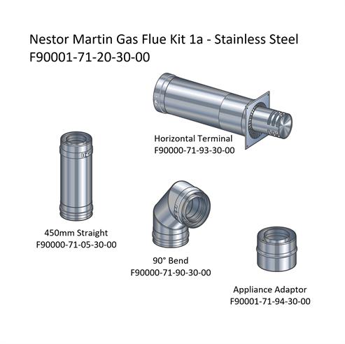 Picture of Nestor Martin Gas Flue Kit 1a - Horizontal Terminal