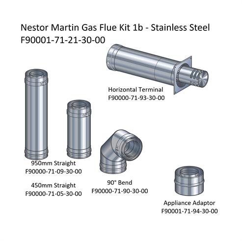 Picture of Nestor Martin Gas Flue Kit 1b - Horizontal Terminal