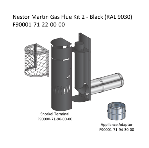 Picture of Nestor Martin Gas Flue Kit 2 - Snorkel Terminal