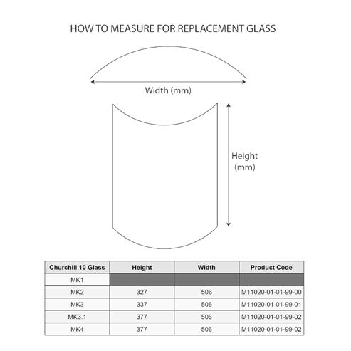 Picture of Churchill 10 MK3 Glass