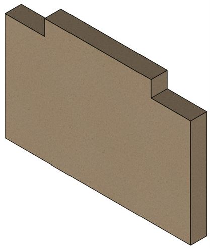 Picture of Vue Portrait, Accona Base Brick (Single)