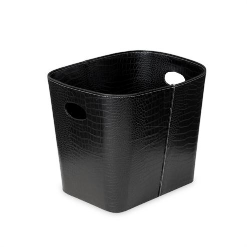 Picture of Medium Black Alligator Effect Log Basket